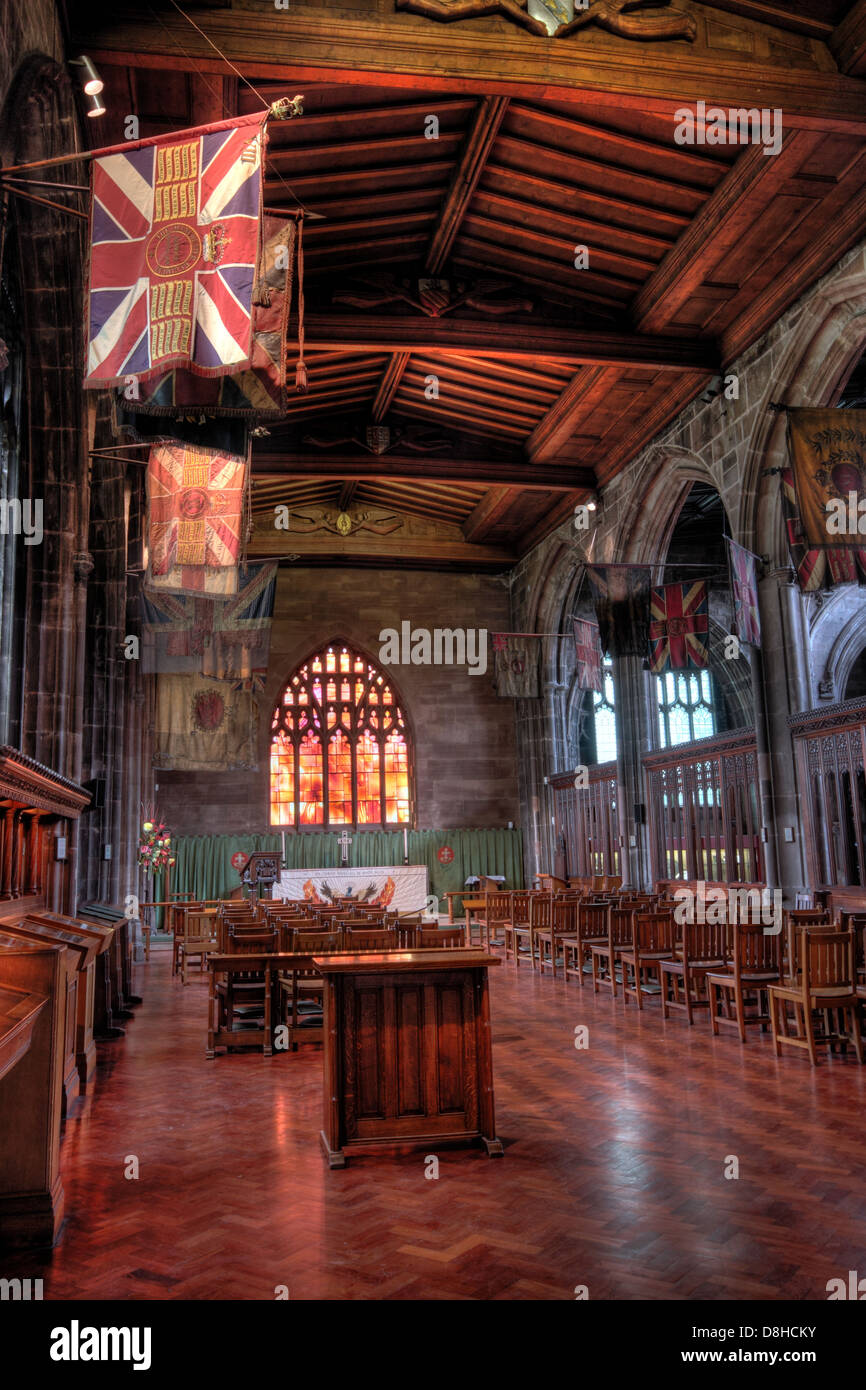 Duke,of,Lancaster,Regiment,army,flags,flag,glorious,stained,glass,window,UK,united,kingdom,GB,tourist,tourism,places,to,visit,inside,interior,building,architecture,book,of,died,in,service,mass,Dean,Chapter,cloister,cloisters,altar,font,M31SX,M3,1SX,Victoria,st,street,Gotonysmith religious anglican religion,Buy Pictures of,Buy Images Of