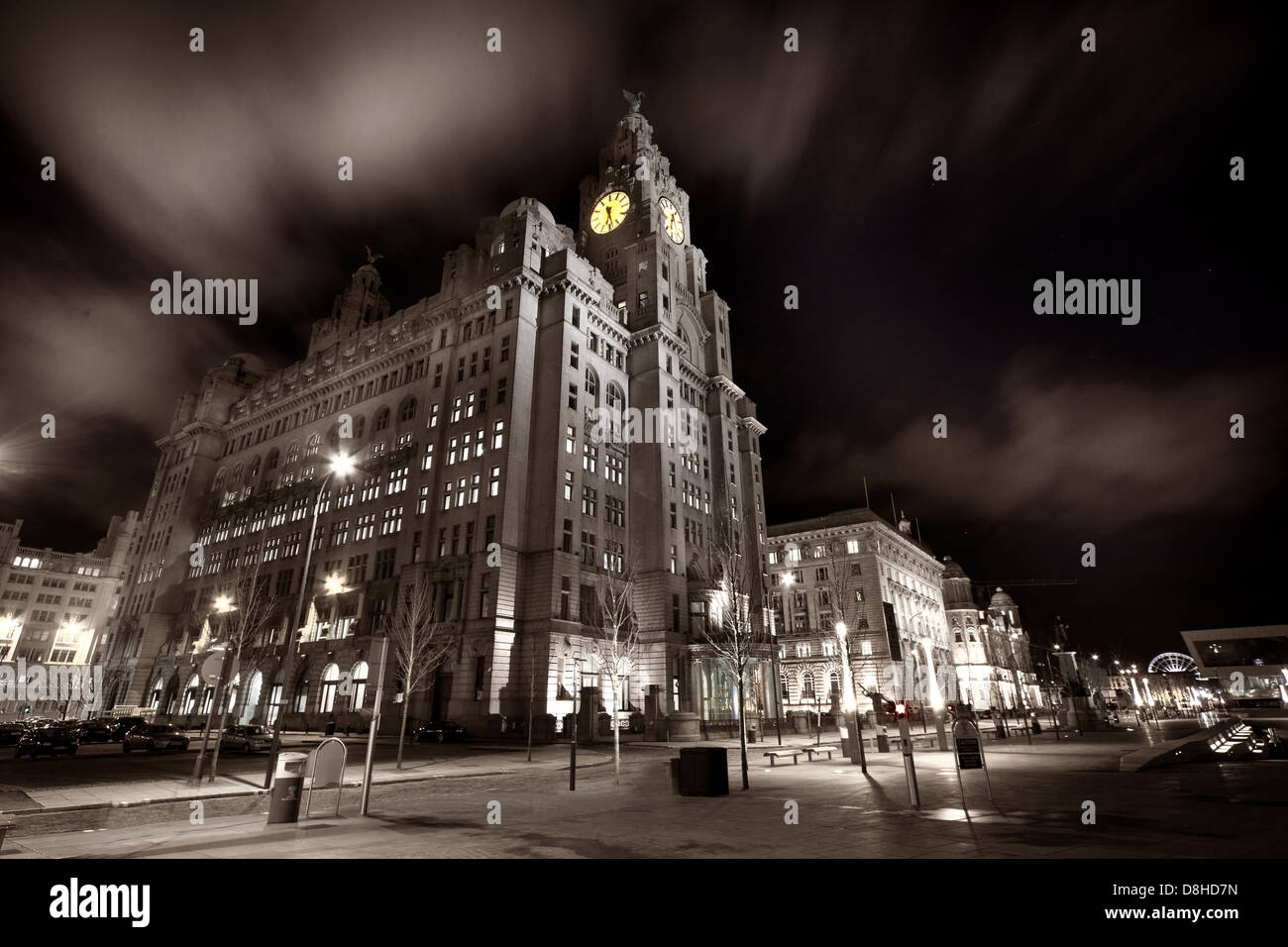 dock,front,at,the,Pier,Head,docks,Mersey,harbour,co,company,Merseyside,Lancs,liverpool,England,NW,north,west,english,night,blue,hour,bluehour,city,centre,liver,building,Cunard,architecture,museum,of,nightshot,famous,historic,landmarks,river,riverside,Maritime,Mercantile,City,UNESCO,World,Heritage,gotonysmith,interesting,image,landmark,site,wide,pano,shot,landscape,tourist,visit,visitor,tourism,travel,Royal,Liver,Friendly,Society,Line,shipping,company,by,clock,selective,color,colour,Buy Pictures of,Buy Images Of