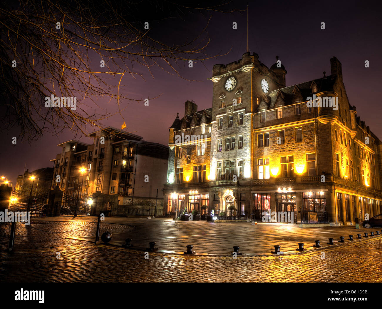 Dusk,B&B,places,to,stay,city,capital,of,Scotland,UK,GB,Great,Britain,The,Shore,Bed,and,Breakfast,boutique,places,place,to,stay,tourist,tourists,travel,travellers,cities,water,front,waterfront,eat,eating,chain,cobbles,reflections,reflection,Buy Pictures of,Buy Images Of,gotonysmith,Malmaisons.,The,former,house,of,ill-repute,now,has,a,reputation,thats,second,to,none,and,its,also,just,a,short,taxi,ride,away,from,Waverley,Station.,Malmaison,Edinburgh,bides,at,Leith,(as,they,say,up,here),just a stones throw from the Royal Yacht Britannia,but offering far more funky luxury. Yes,when you want exciting hotels in Edinburgh,this is the King,not,the,castle.,Our,Edinburgh,hotel,puts,you,close,to,all,of,Edinburghs,cobbled,splendours,incredible,shopping,and,famous,galleries.,Then,its,back,to,Mal,for,Scots,dining,with,a,twist,a,fine,selection,of,single,malts,and,mojitos,in,the,bar,and,then,back,to,the,slinkiest,and,most,spectacular,rooms,in,the,Scots,capital,scottish,independance,independence,home,rule,devolution,parliament,SNP,national,party,@Hotpixuk,Government,2014,Scots,vote,voting