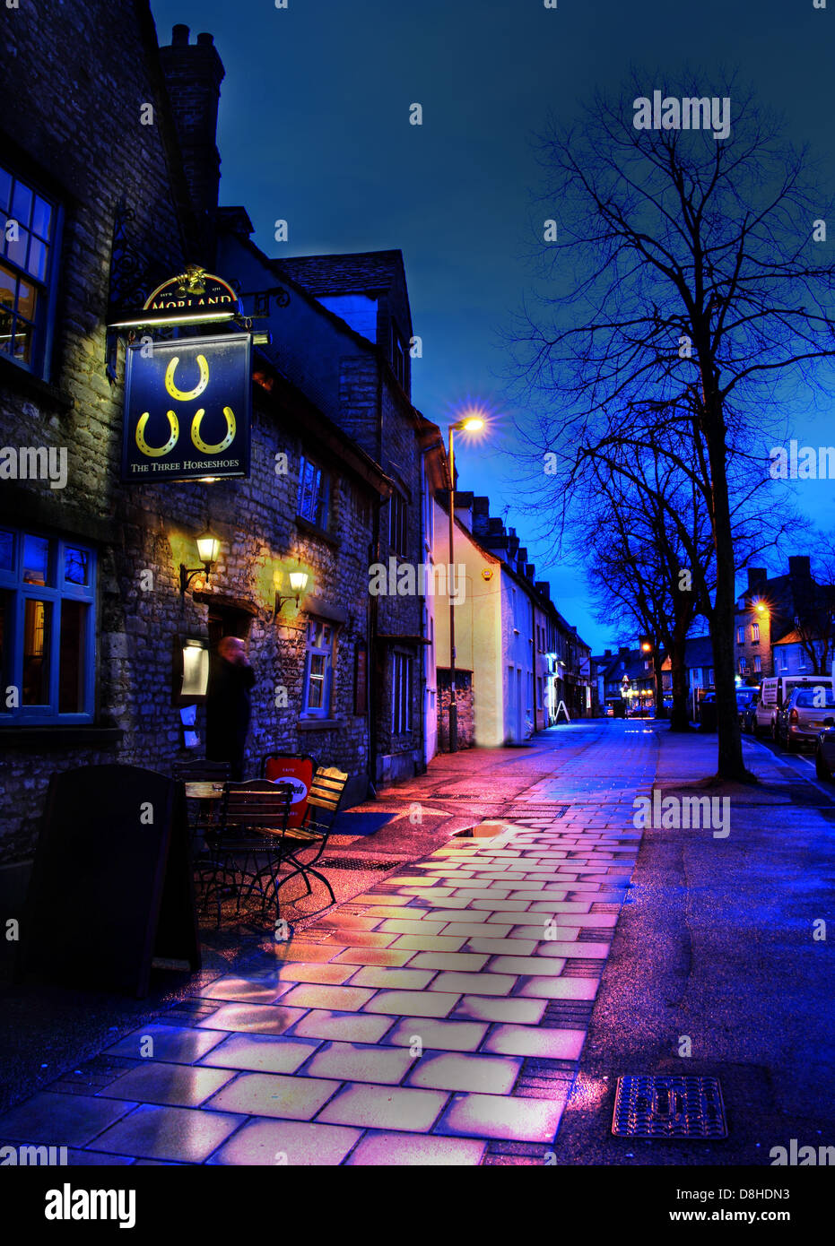 West,Oxfordshire,DC,District,Council,WODC,Night,shot,time,nighttime,England,GB,UK,Great,Britain,Cottswold,town,David,Cameron,constituency,blue,bar,public,house,houses,at,in,wet,pavement,drinking,CAMRA,drinker,beer,ale,lager,bitter,tourist,tourism,Cotswold,Cotswolds,Cottswolds,dark,spooky,gotonysmith,Buy Pictures of,Buy Images Of