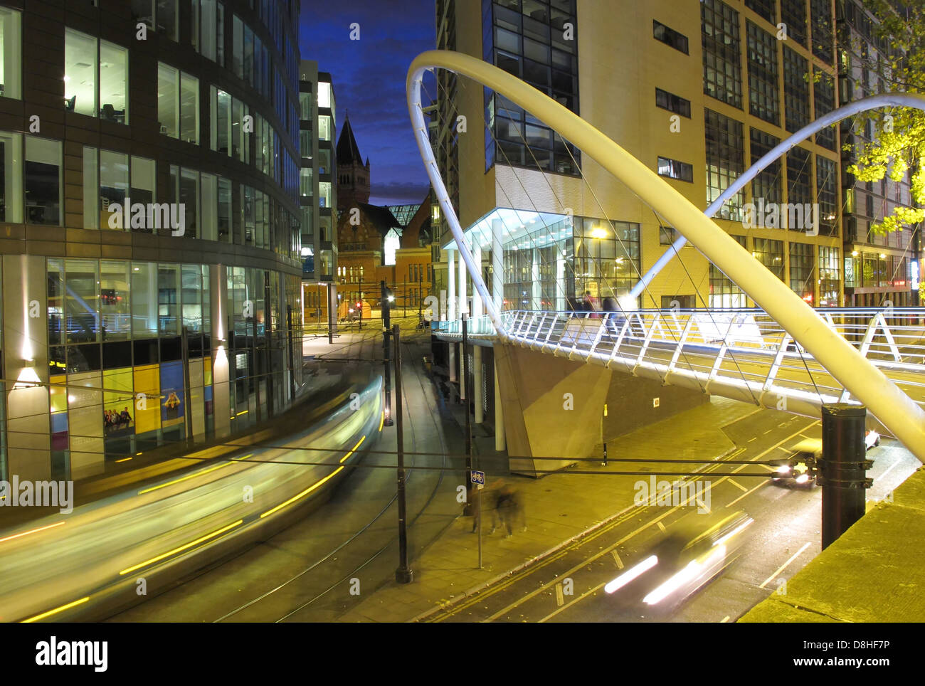 Night,mainline,railroad,railway,Station,Manchester,England,UK,BR,cars,car,trials,city,centre,mixed,lighting,tourist,shot,photo,image,linking,canal,st,travel,to,white,steel,tubular,construction,hidden,surprising,Gotonysmith,gotonysmith,Buy Pictures of,Buy Images Of