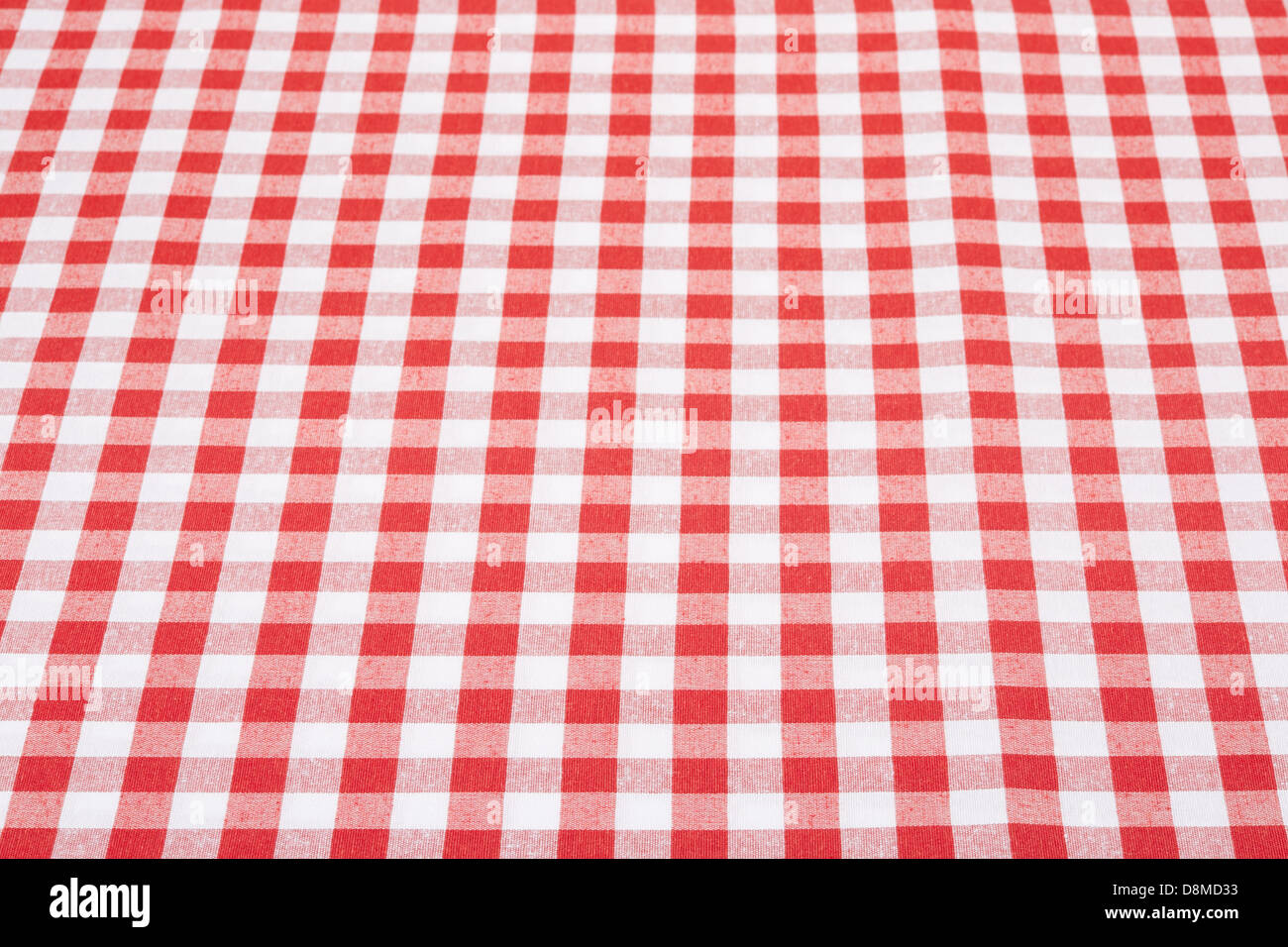 Merveilleux Red And White Gingham Tablecloth Texture Background In Perspective