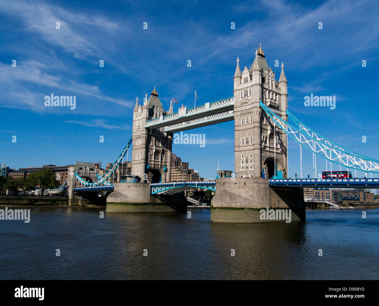 Tower Bridge over the River Thames, London, UK Stock Photo