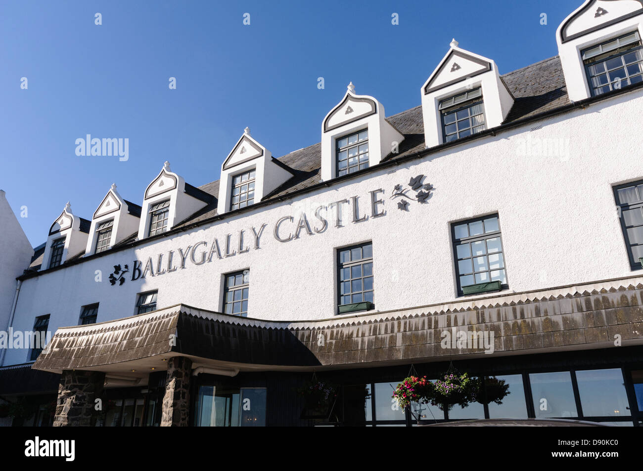 Ballygally Castle Hotel, Larne. Part of the Hastings Group of hotels in Northern Ireland, and supposedly haunted - Stock Image