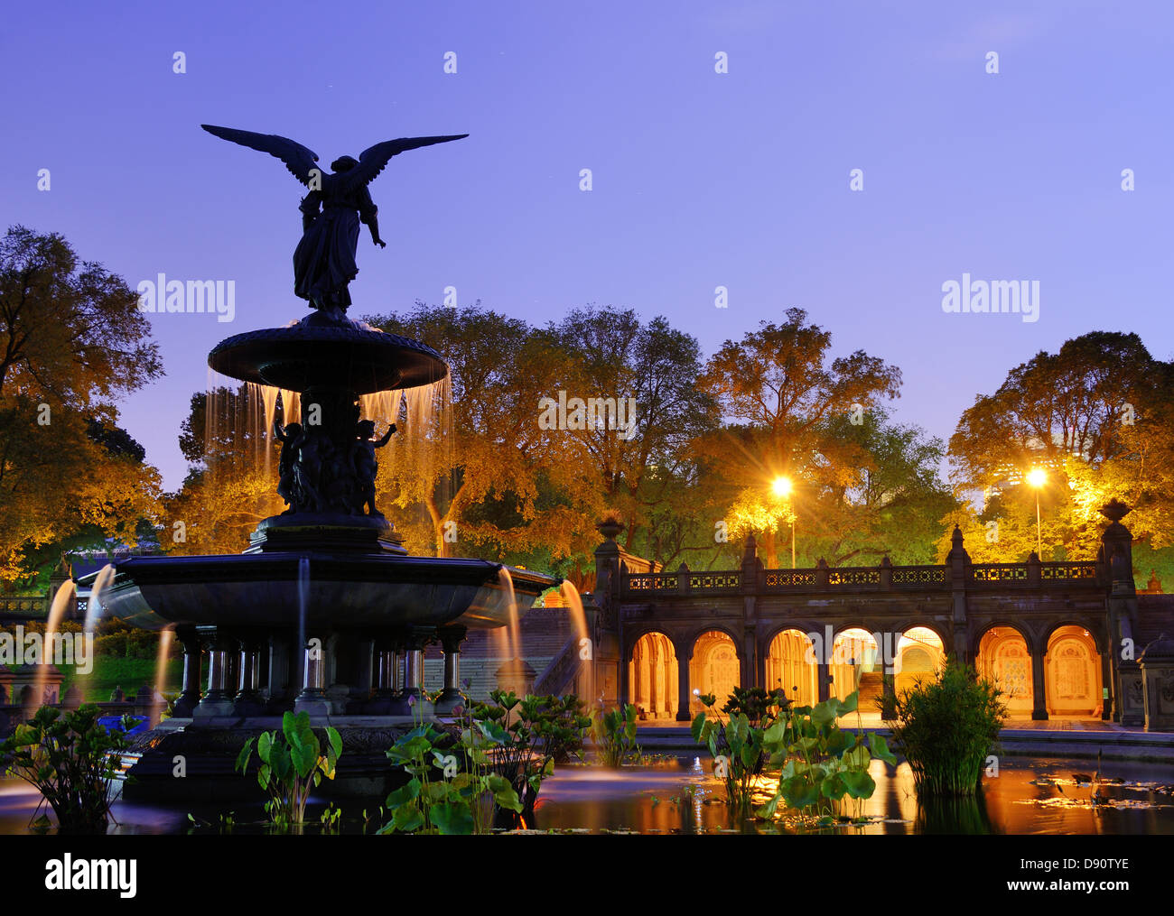 Bethesda Terrace and fountain in New York City. - Stock Image