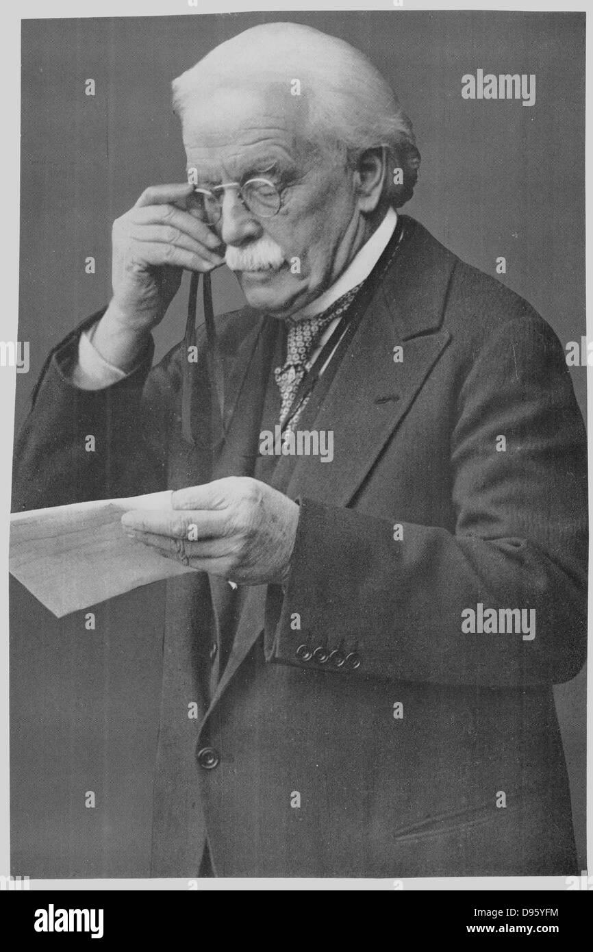 David Lloyd George (1863-1945) Welsh-born British Liberal statesman. - Stock Image