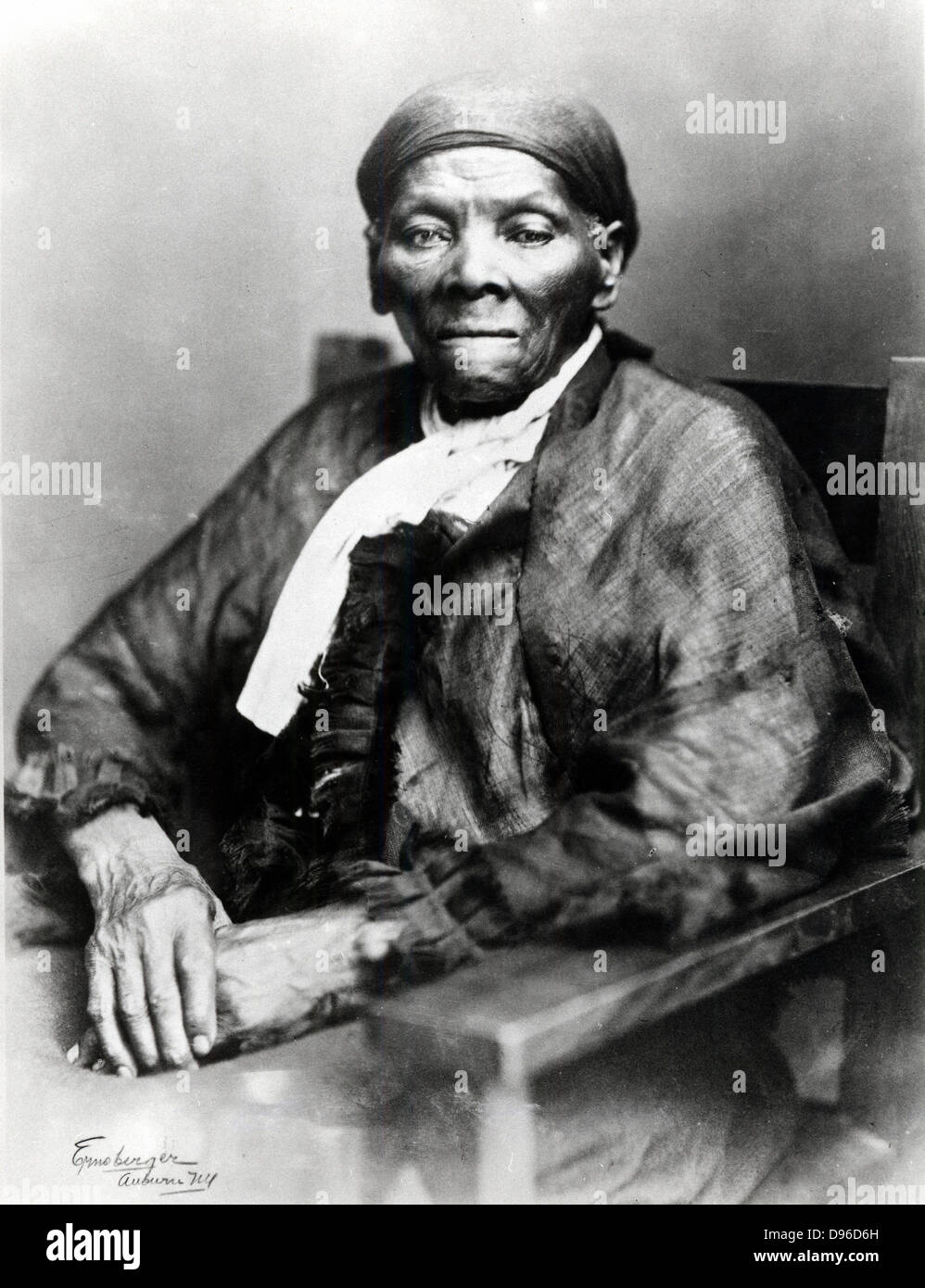 Harriet Tubman (c1820-1913) American born in slavery, escaped 1849, and became leading Abolitionist. Active as a Stock Photo