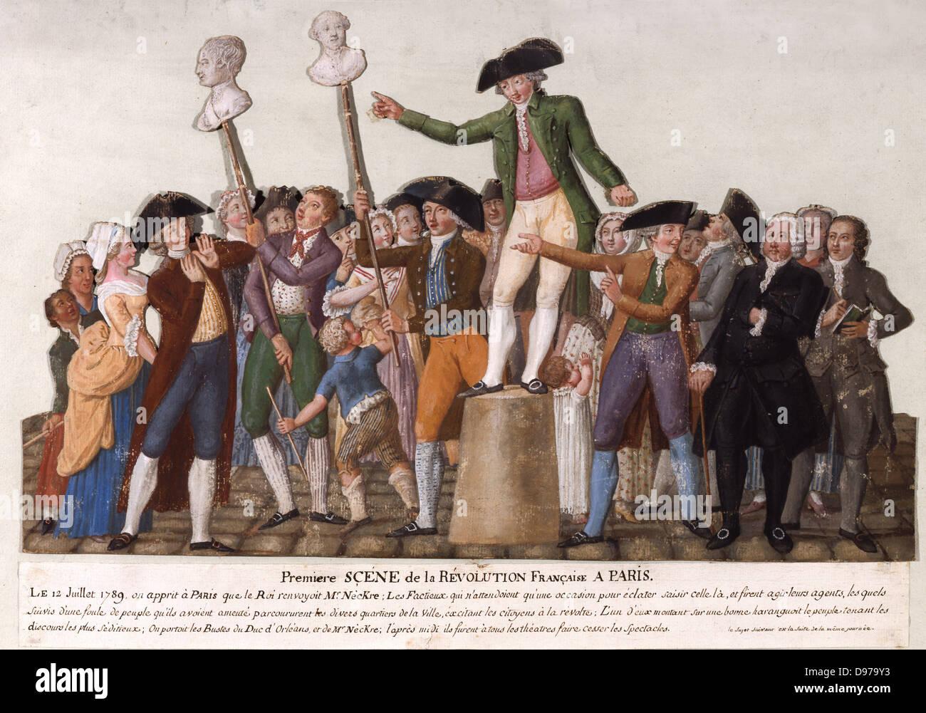 Pierre Etienne Lesueur On July 12, 1789 Carnavalet Museum - Paris - Stock Image