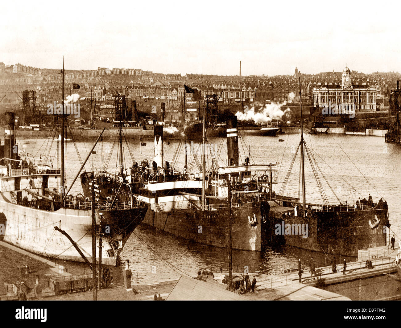 Barry Dock early 1900s - Stock Image