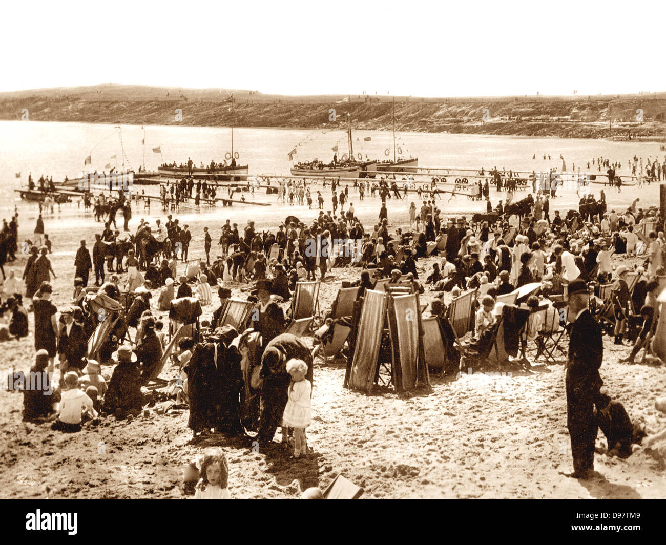 Barry Island early 1900s - Stock Image