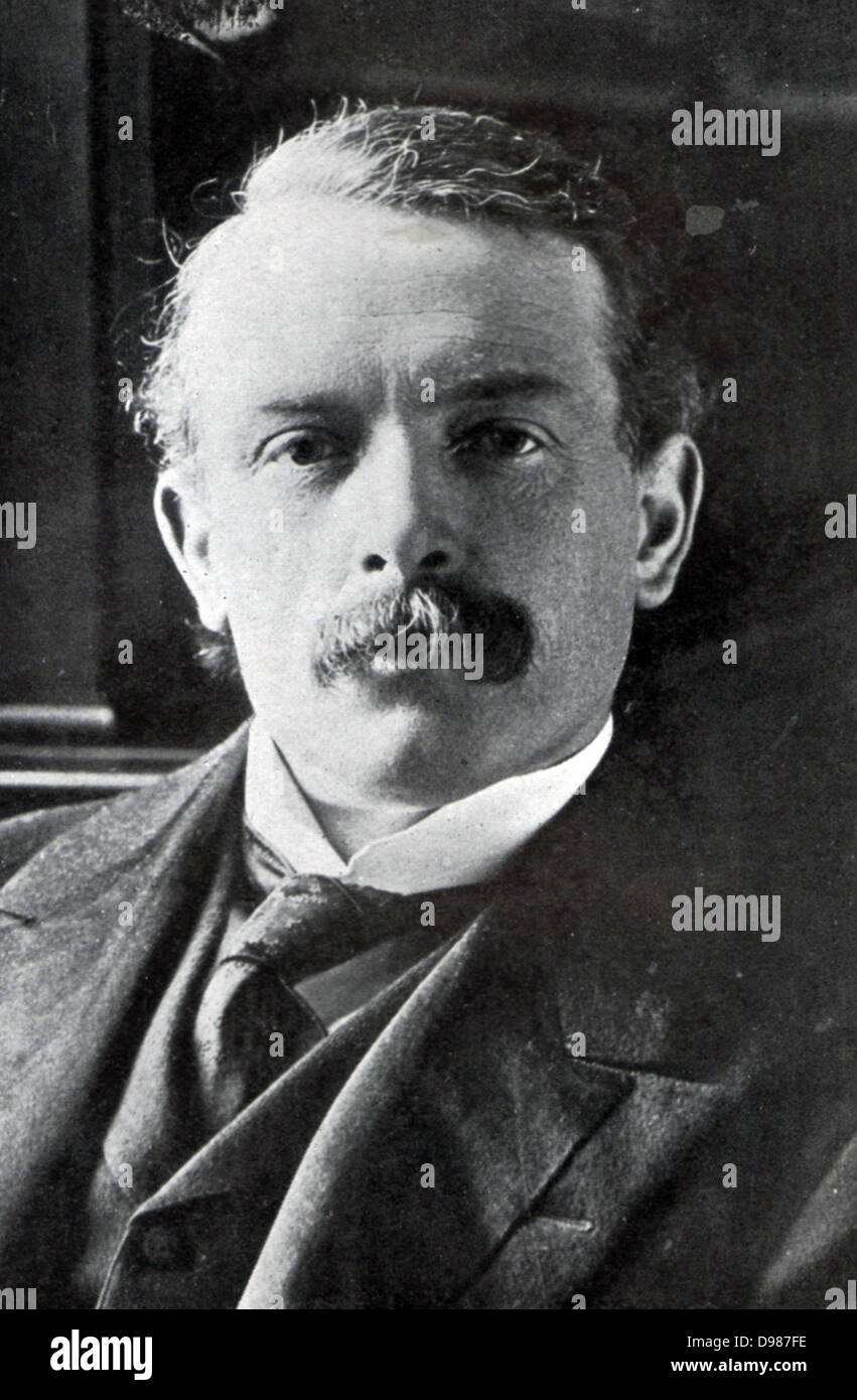 David Lloyd George 1863-1945, first Welsh Prime Minister. - Stock Image