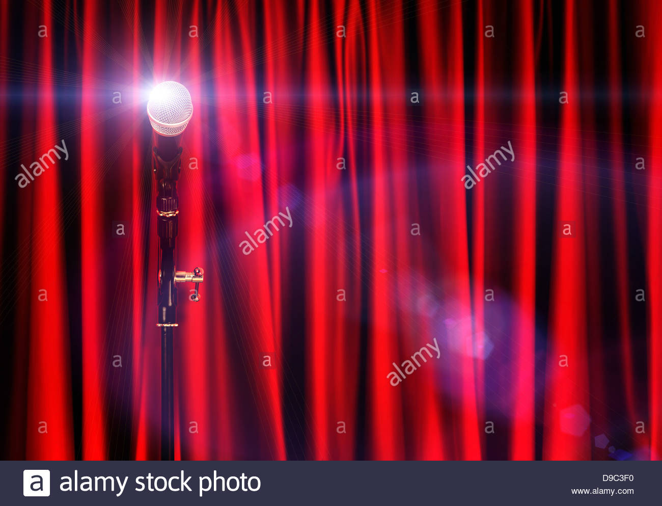 stage star microphone - Stock Image