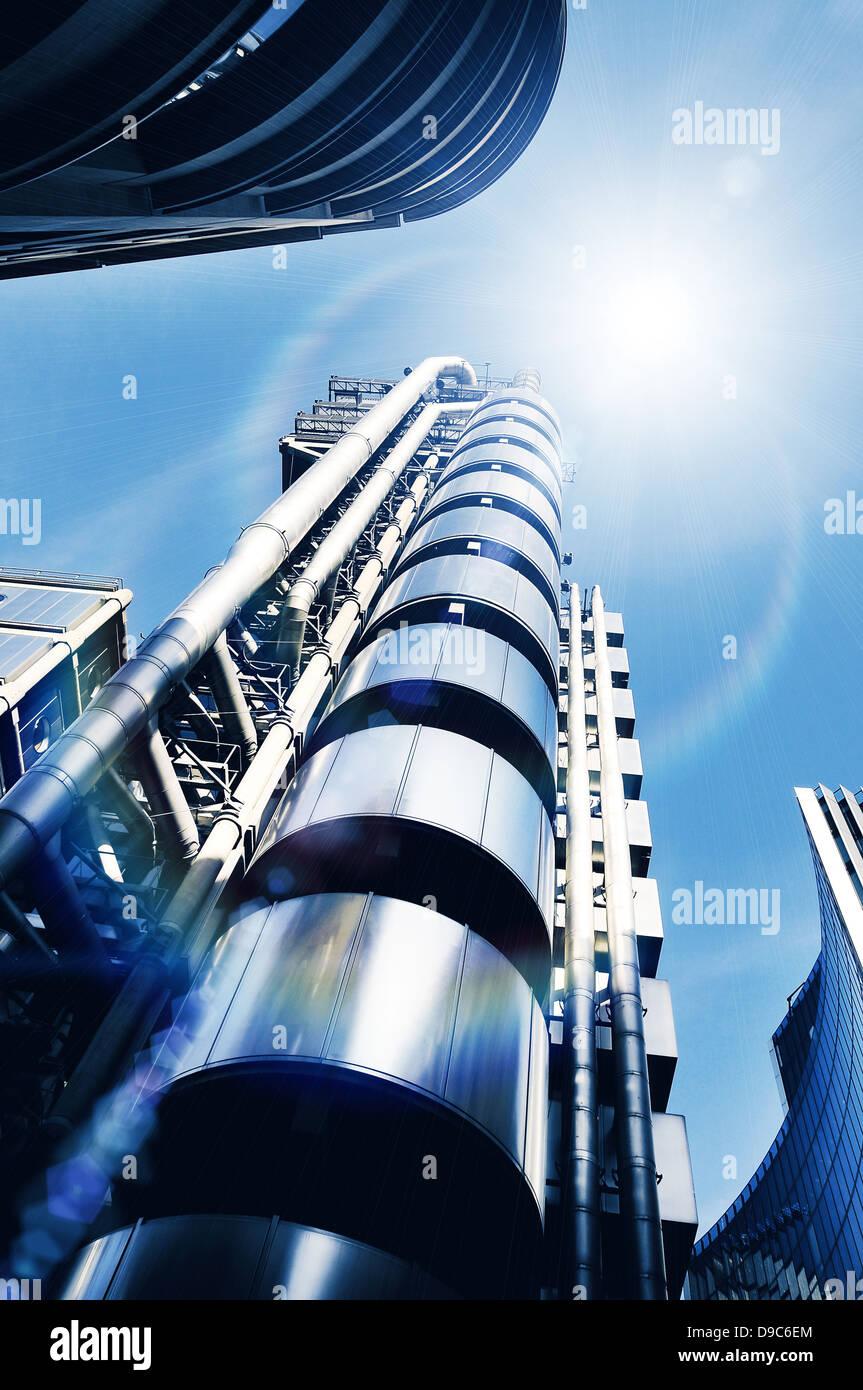 sunlight modern architecture - Stock Image