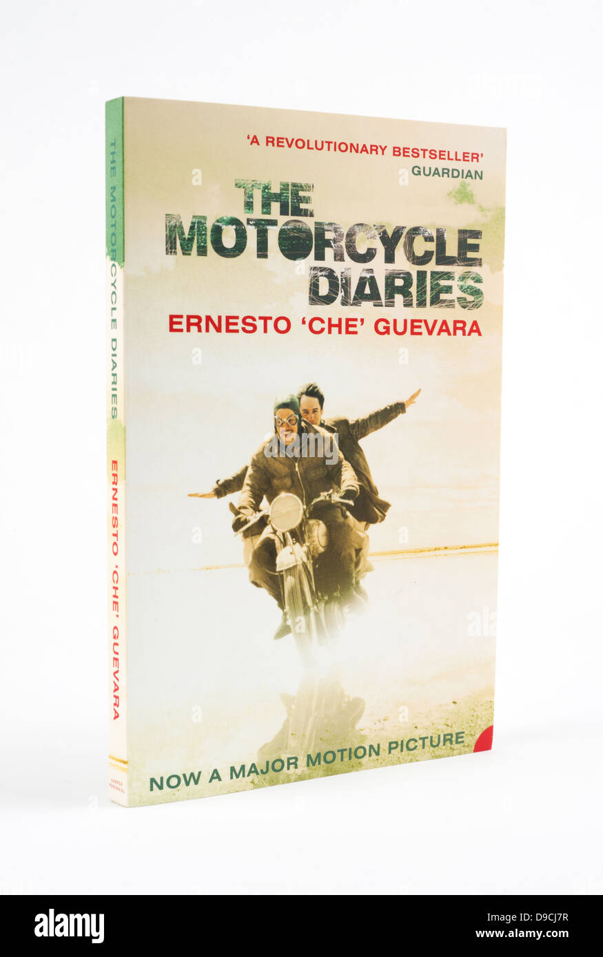"The Motorcycle Diaries is a memoir by Ernesto ""Che"" Guevara of his early travels Stock Photo"