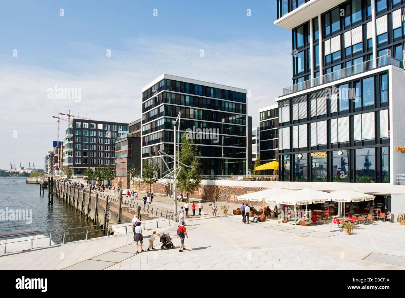 Moderne Architektur In Der HafenCity In Hamburg , Modern Architecture In  The HafenCity In Hamburg,