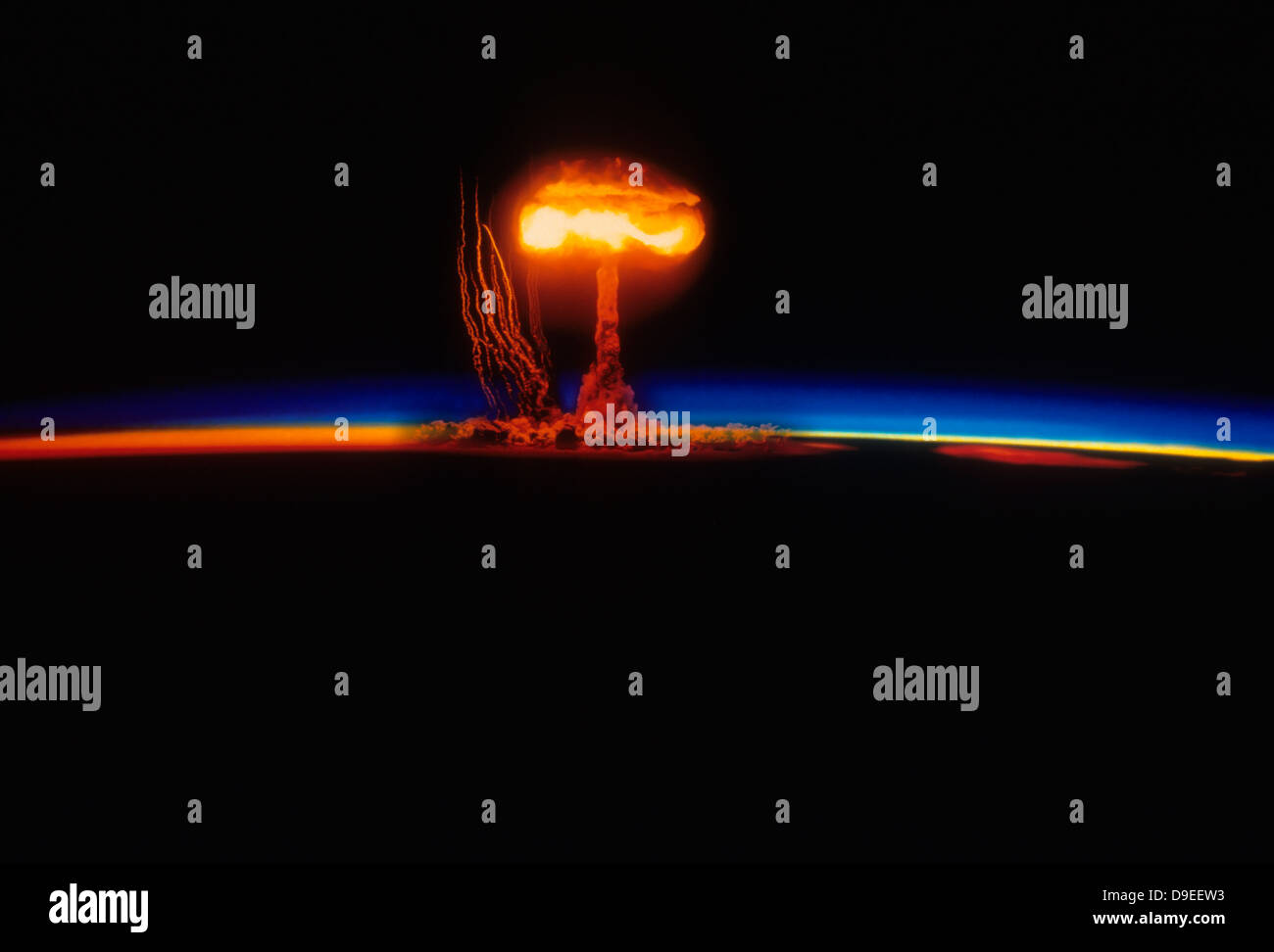 Nuclear Explosion - Stock Image