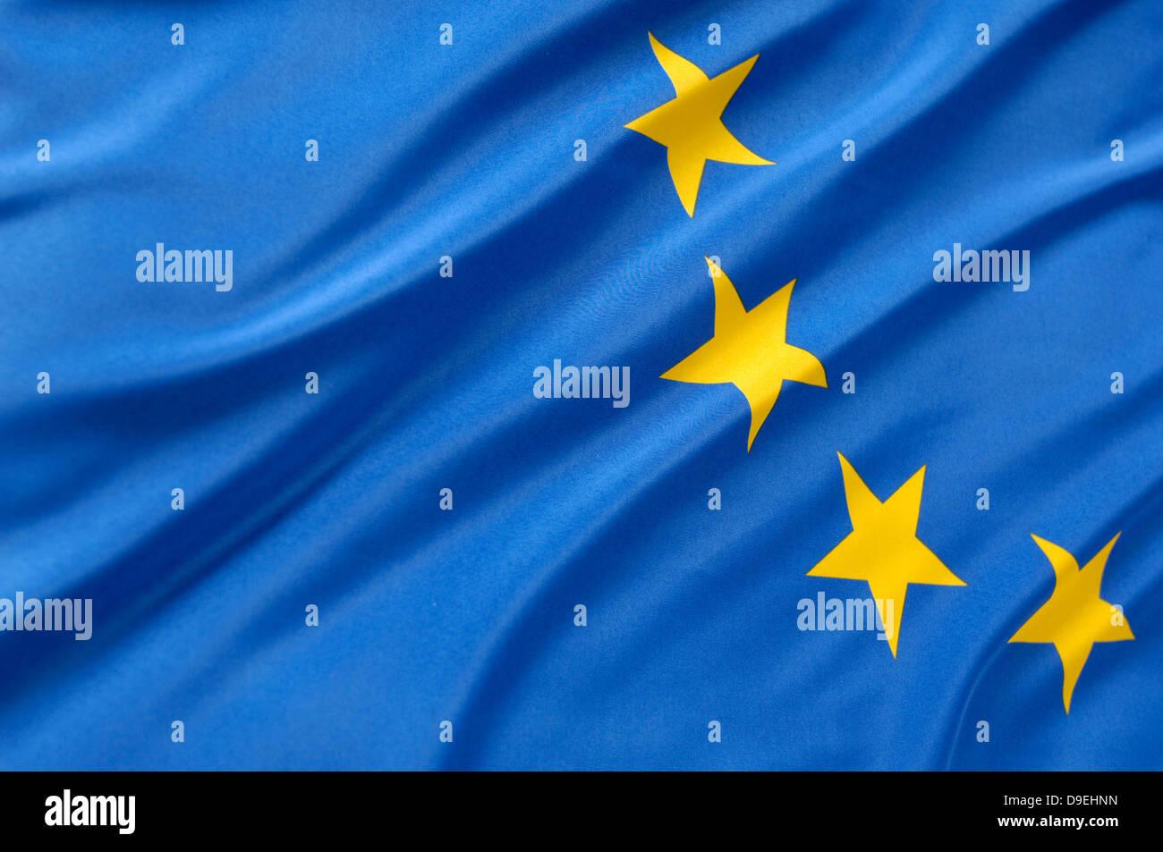 flag of EEC, europe, stars, EG, european community - Stock Image