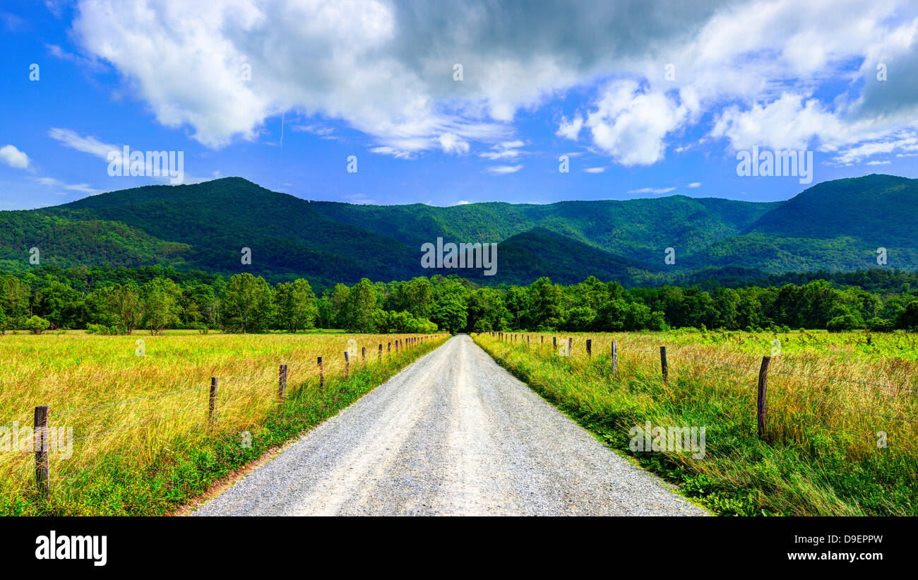 Sparks Lane in Cades Cove near Gatlinburg, Tennessee. - Stock Image