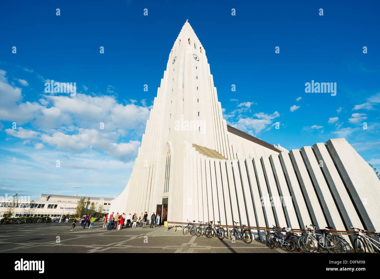 Hallgrimskirkja church, Reykjavik, Iceland, Polar Regions - Stock Image