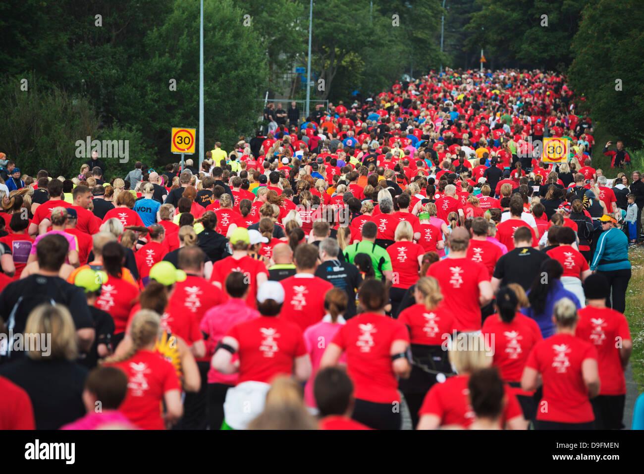 Reykjavik Marathon 2012, Reykjavik, Iceland, Polar Regions - Stock Image