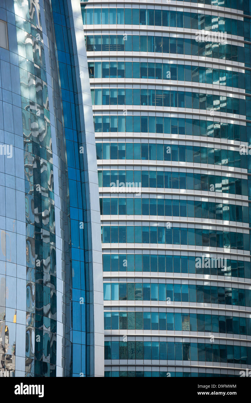 Buildings in Doha, Qatar, Middle East - Stock Image