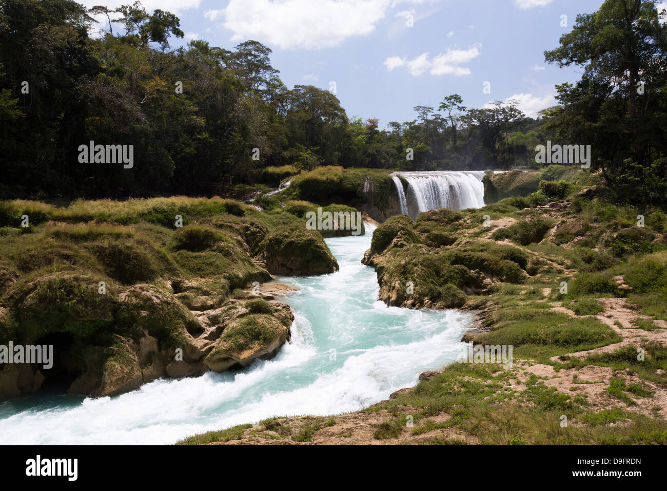 Rio Santo Domingo, Centro Ecoturistico Las Nubes, Chiapas, Mexico - Stock Image
