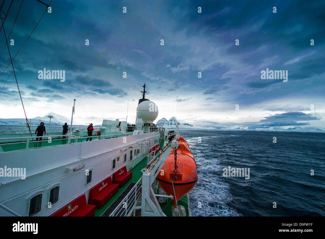 Port Lockroy research station, Antarctica, Polar Regions - Stock Image