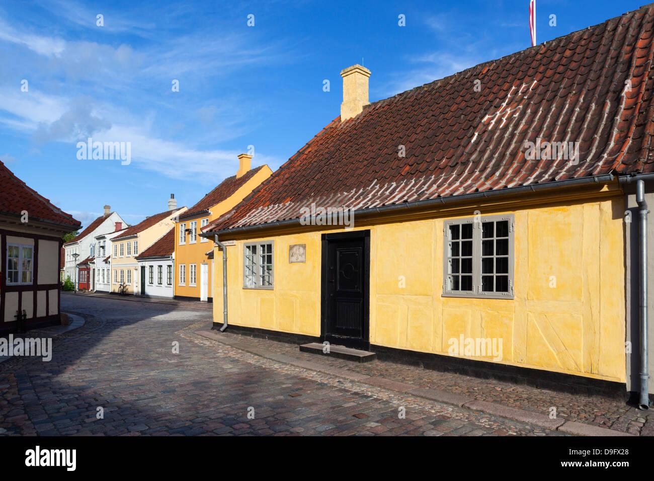 Hans Christian Andersen's House, Odense, Funen, Denmark, Scandinavia - Stock Image