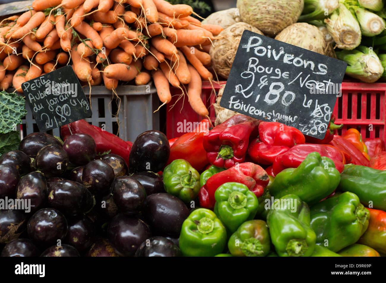 the market at Aix en Provence, France - Stock Image
