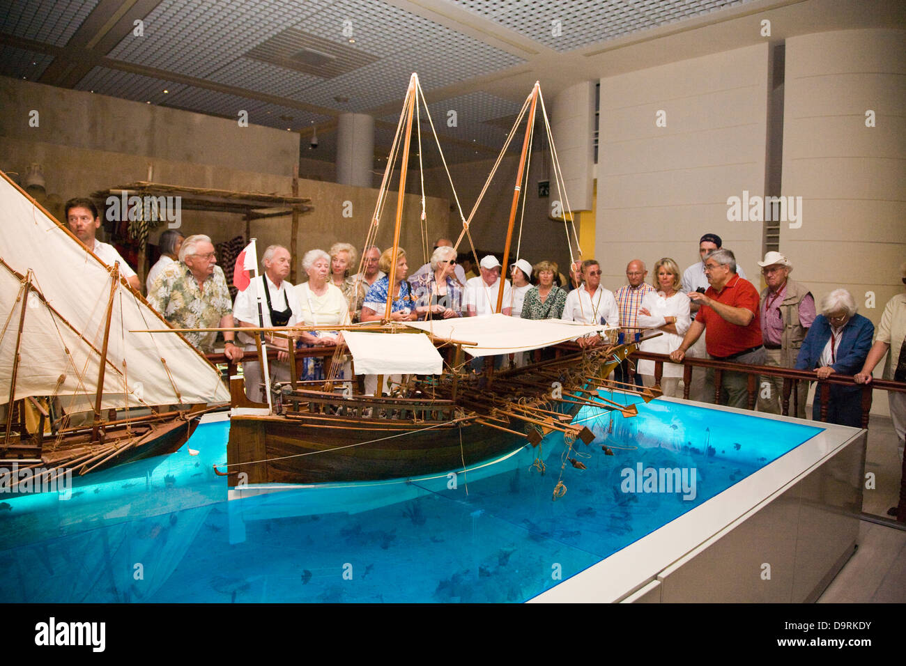 Display at the Bahrain National Museum, Manama, Bahrain - Stock Image