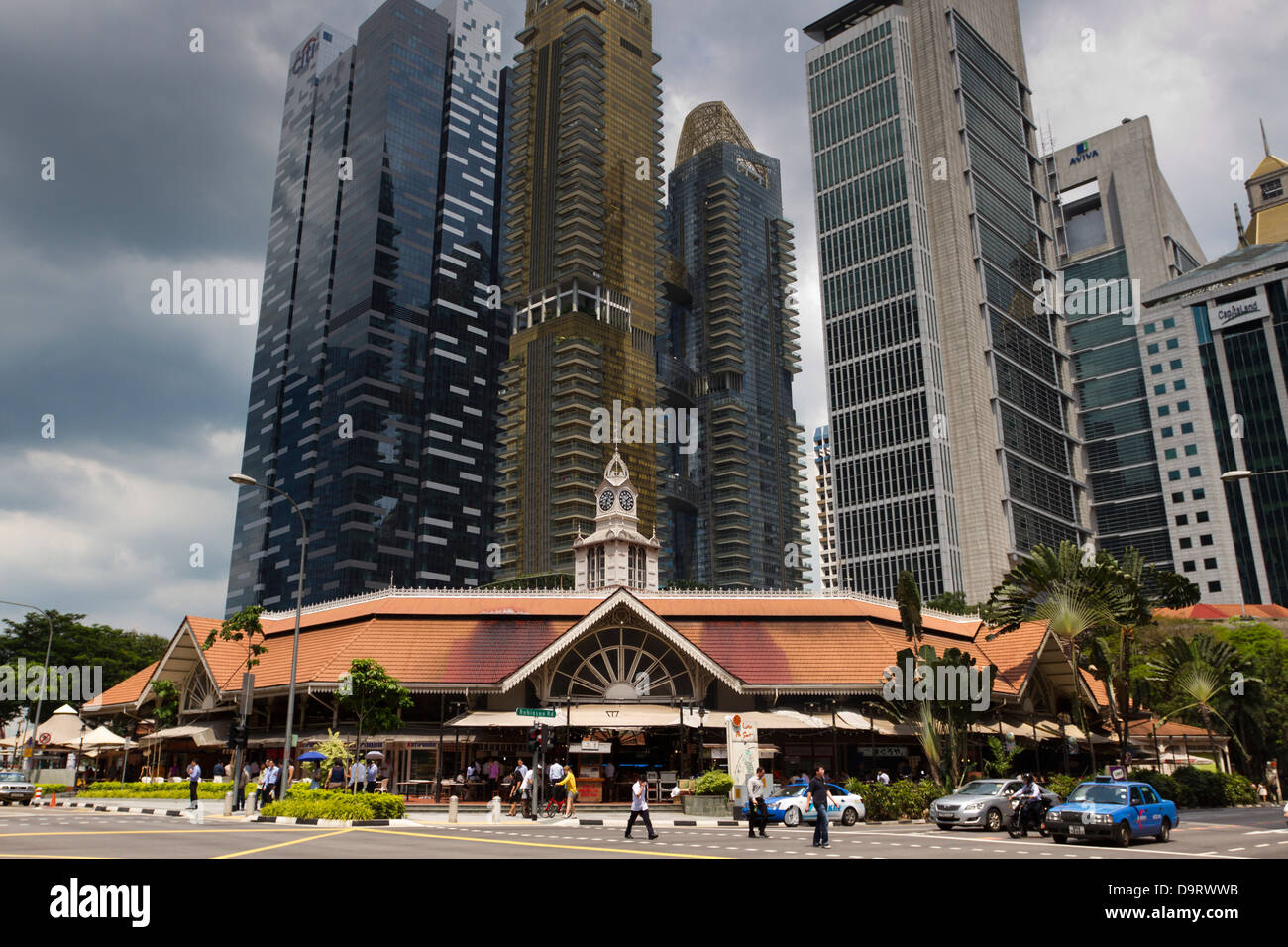 Lau Pa Sat Festival Pavilion, food court, Singapore Stock Photo
