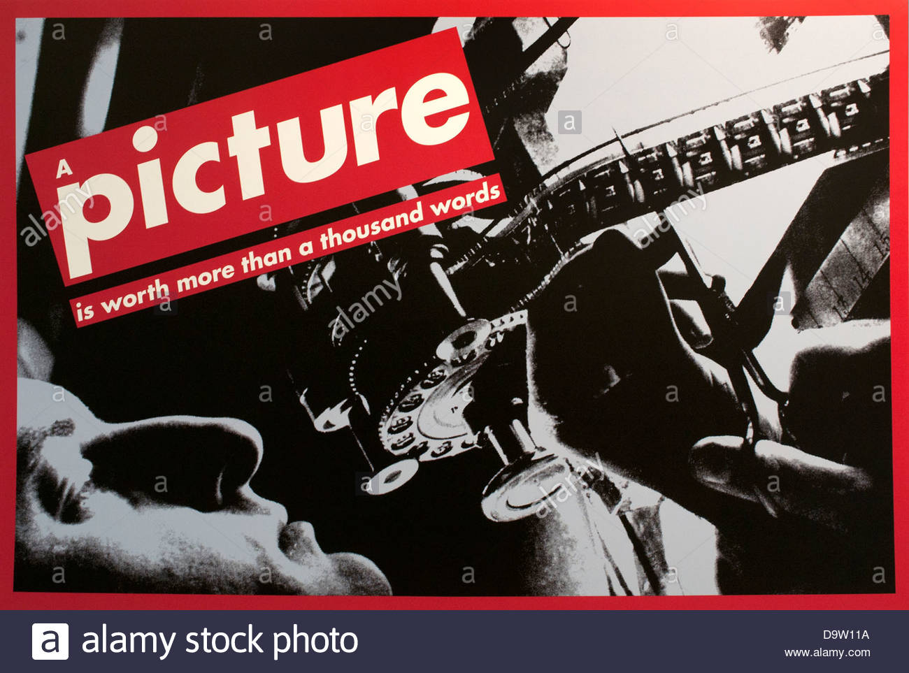 Untitled (A picture is worth more than a thousand words), Barbara Kruger, 1992 American United States of America - Stock Image