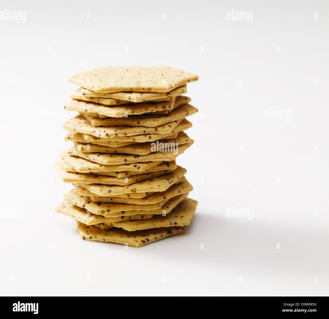 pile of crackers - Stock Image