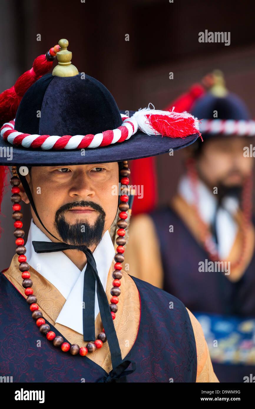 Changing of the Guard Ceremony, Deoksugung Palace, Gwanghwamun, Seoul, South Korea, Asia - Stock Image