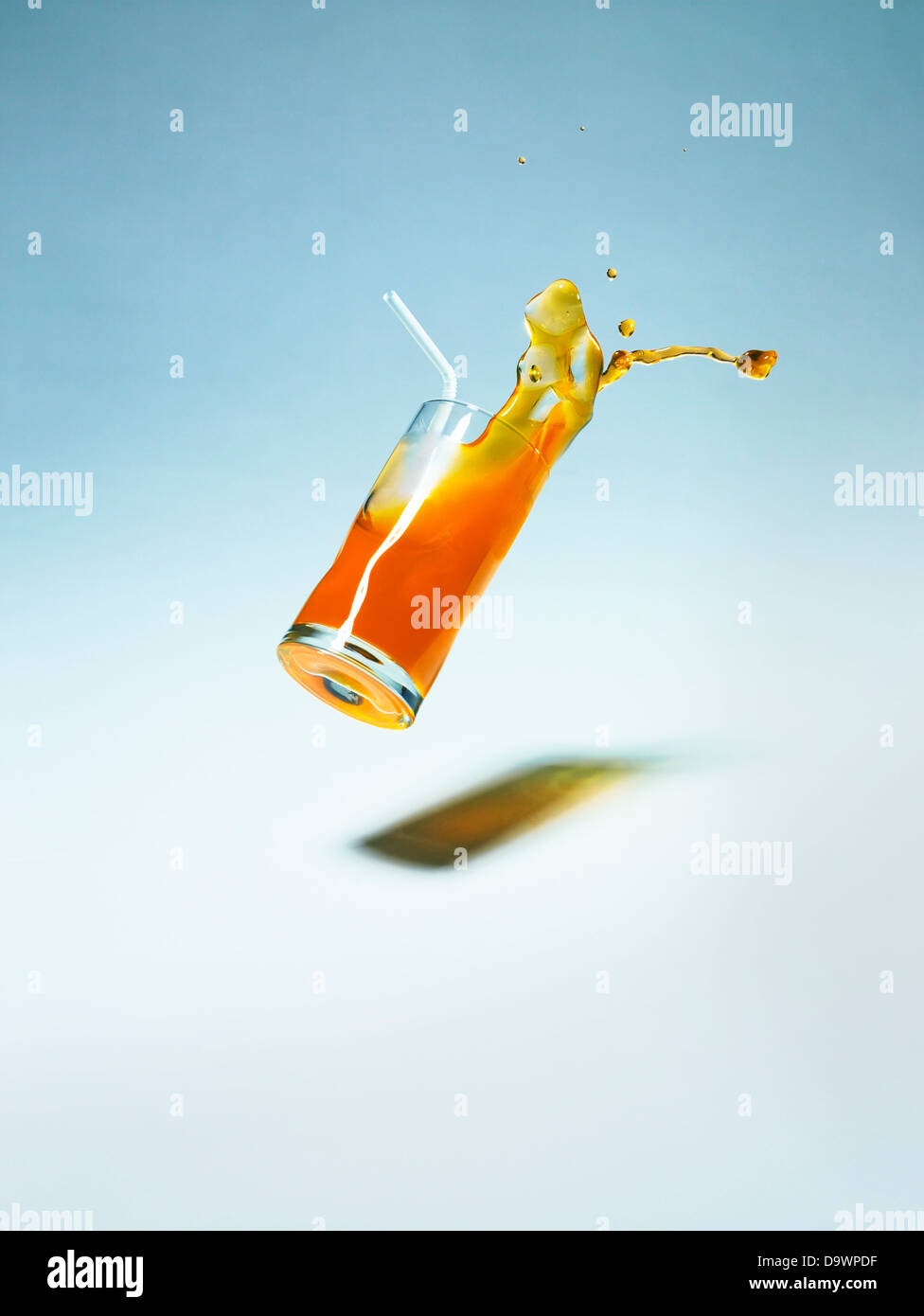 falling drink - Stock Image
