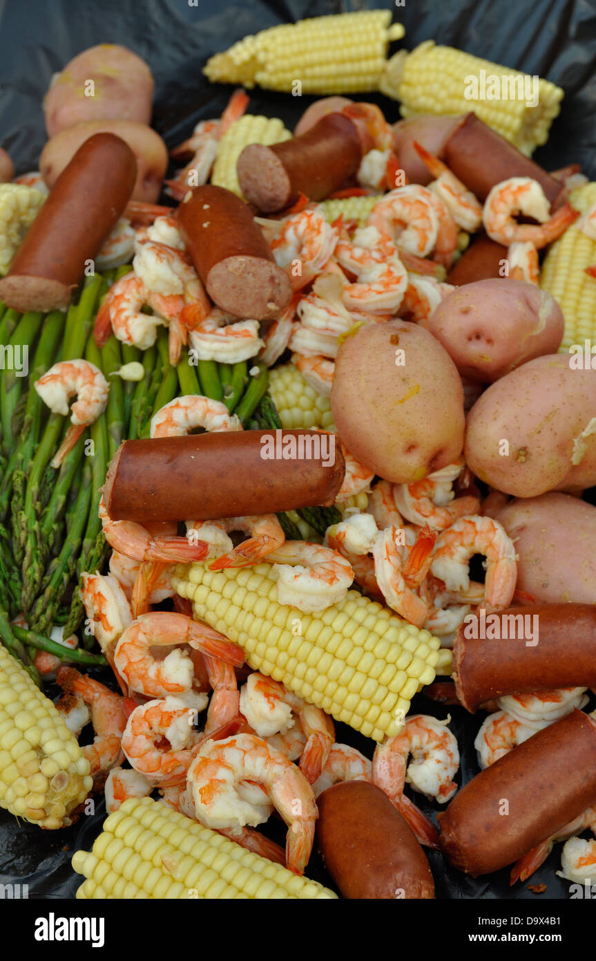 Shrimp boil. - Stock Image