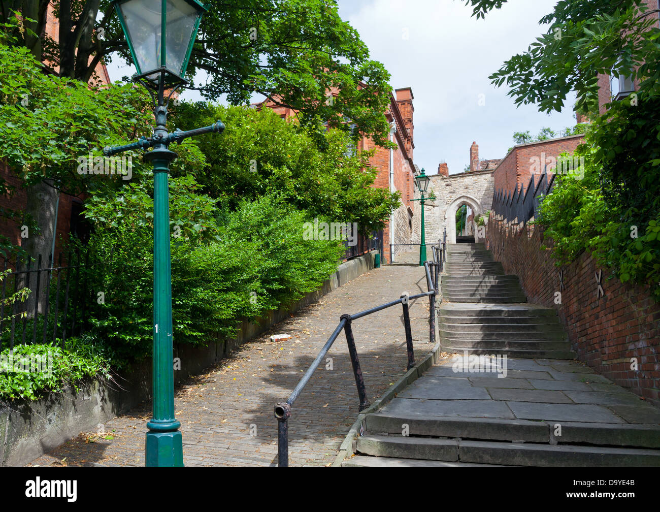 Lincoln - Greestone stairs; Lincoln, Lincolnshire, UK, Europe - Stock Image