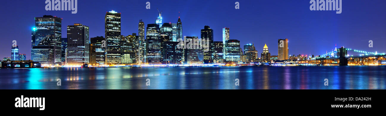 Lower Manhattan skyline in New York City. - Stock Image