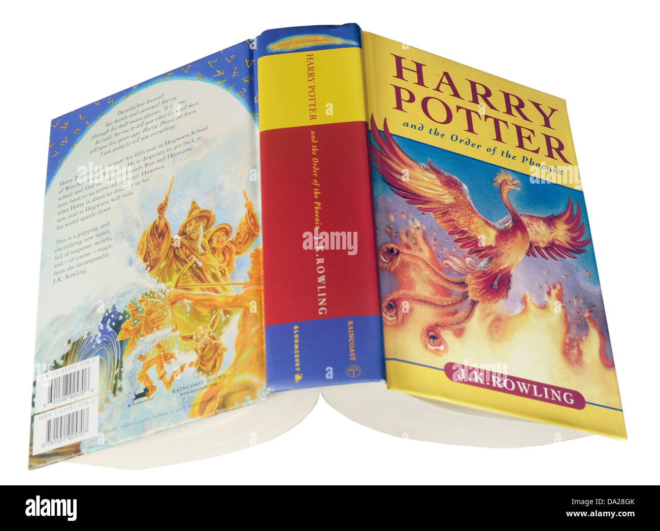 The 5th Harry Potter book Harry Potter and the Order of the Phoenix - Stock Image
