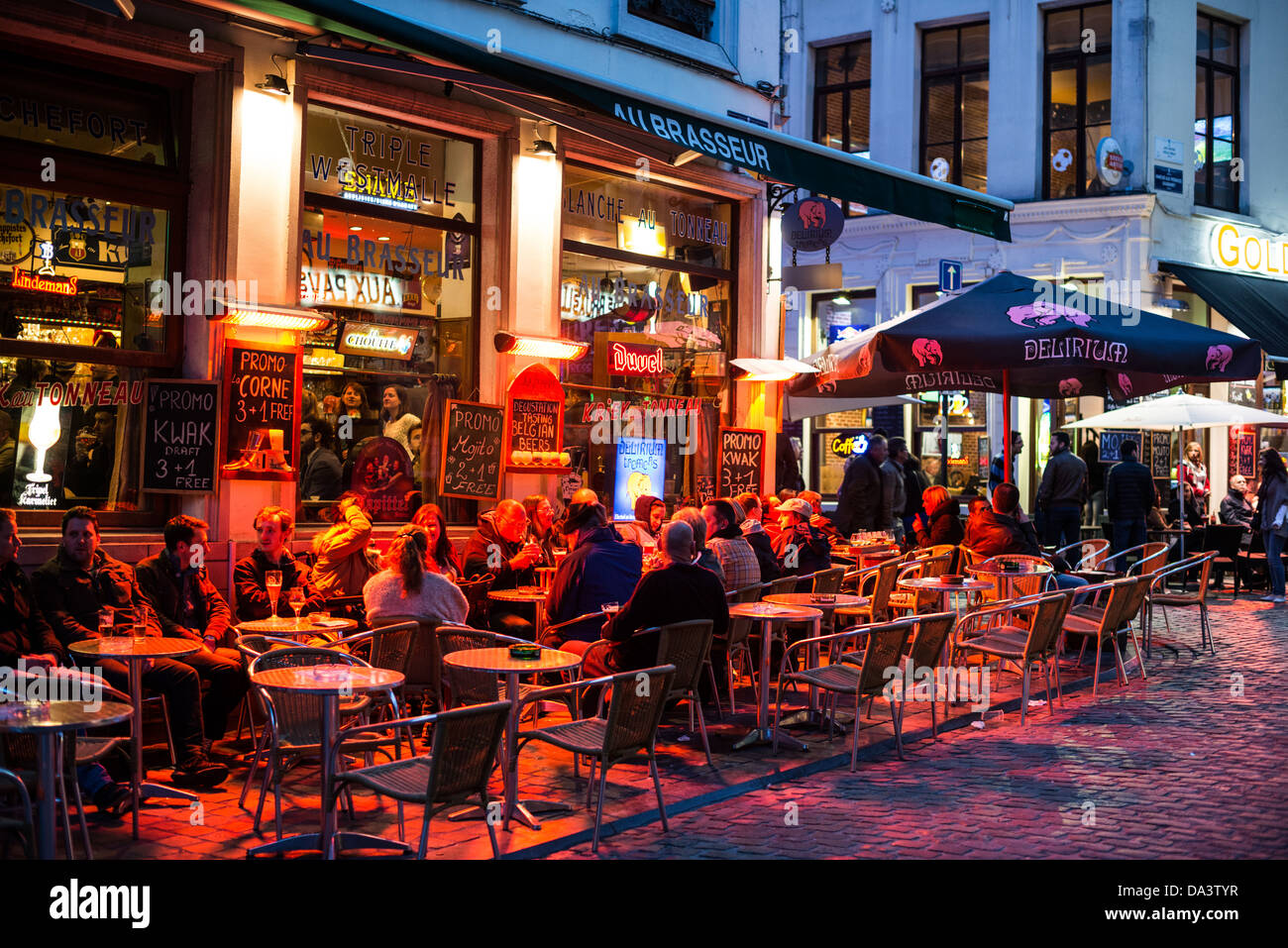 bars with outdoor seating BRUSSELS, Belgium   Patrons eat and drink at outdoor seating  bars with outdoor seating