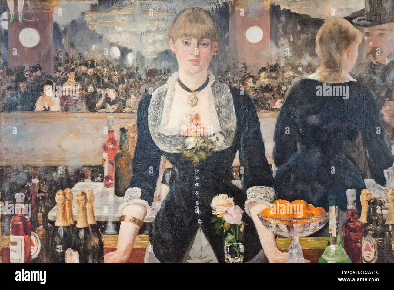 England, London, Aldwych, Somerset House, Courtauld Gallery And Museum, Oil  On Canvas Painting Titled, A Bar At The Folies Berge