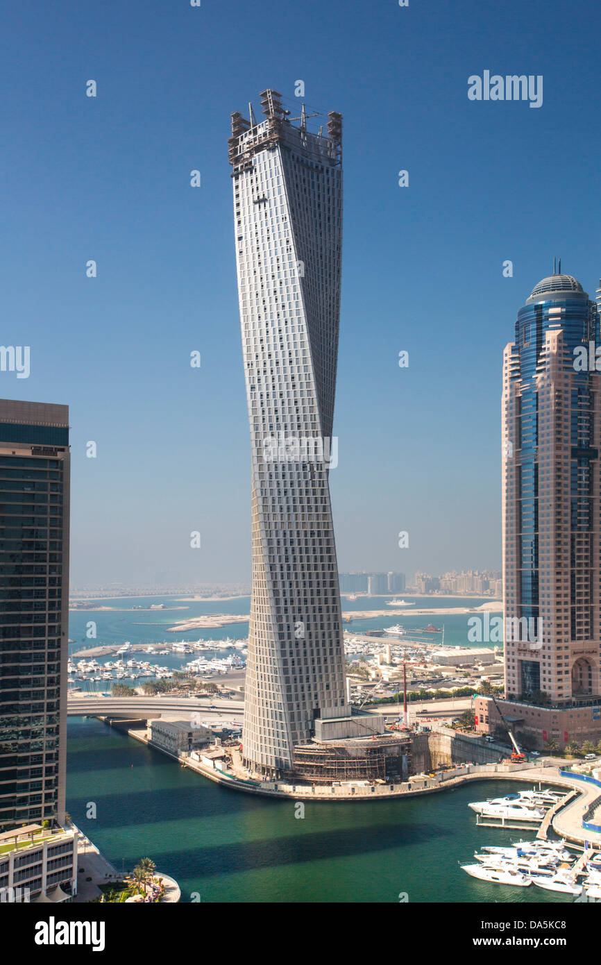 United Arab Emirates, UAE, Dubai, City, Dubai Marina, Infinity Stock ...