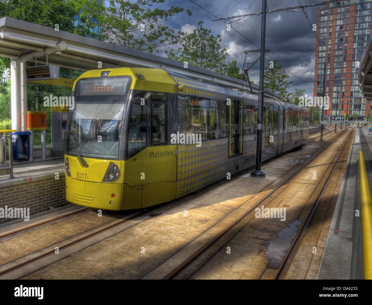Salford,Quays,Manchester,England,UK,bound,for,eccles,tramlines,lines,line,extension,light,rail,transport,system,RAPT,Group,TfGM,for,greater,on-street,tramway,on,street,rapid,transit,Bombardier,Flexity,Swift,M5000s,LRVs,light,rail,vehicles,vehicle,key,strategy,of,planners,railway,arriving,departing,gotonysmith,Mancester,Buy Pictures of,Buy Images Of