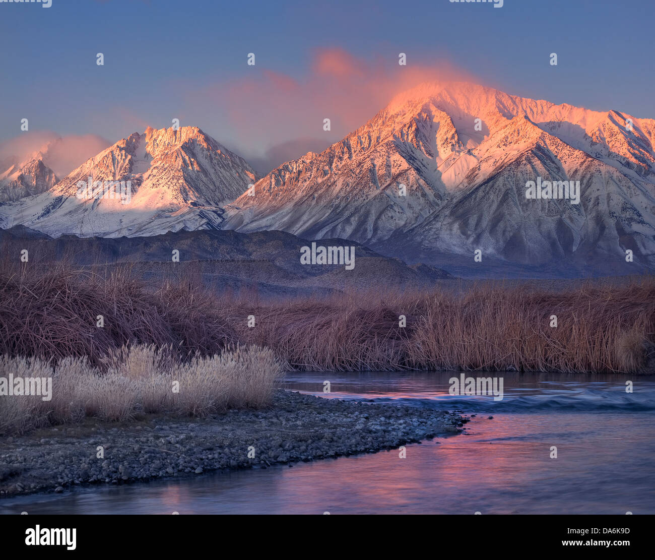 USA, United States, America, California, Bishop, Mount Tom, Sierras, Eastern Sierras, mountain, mountain peaks, Stock Photo