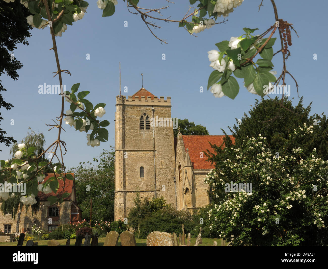 Beautiful,Dorchester,On,Thames,building,interior,of,St,Peter,&,St,Paul,HDR,oxen,oxford,oxfordshire,ancient,monument,graveyard,in,summer,with,flower,flowers,trees,tree,in,bloom,Gotonysmith monuments NT,Buy Pictures of,Buy Images Of