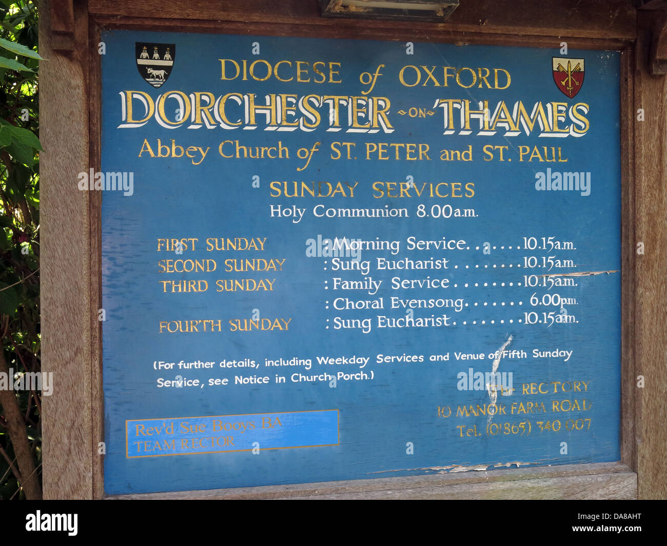 Beautiful,Dorchester,On,Thames,building,interior,of,St,Peter,&,St,Paul,HDR,oxen,oxford,oxfordshire,ancient,monument,front,sign,blue,opening,and,service,times,board,Gotonysmith monuments NT,Buy Pictures of,Buy Images Of