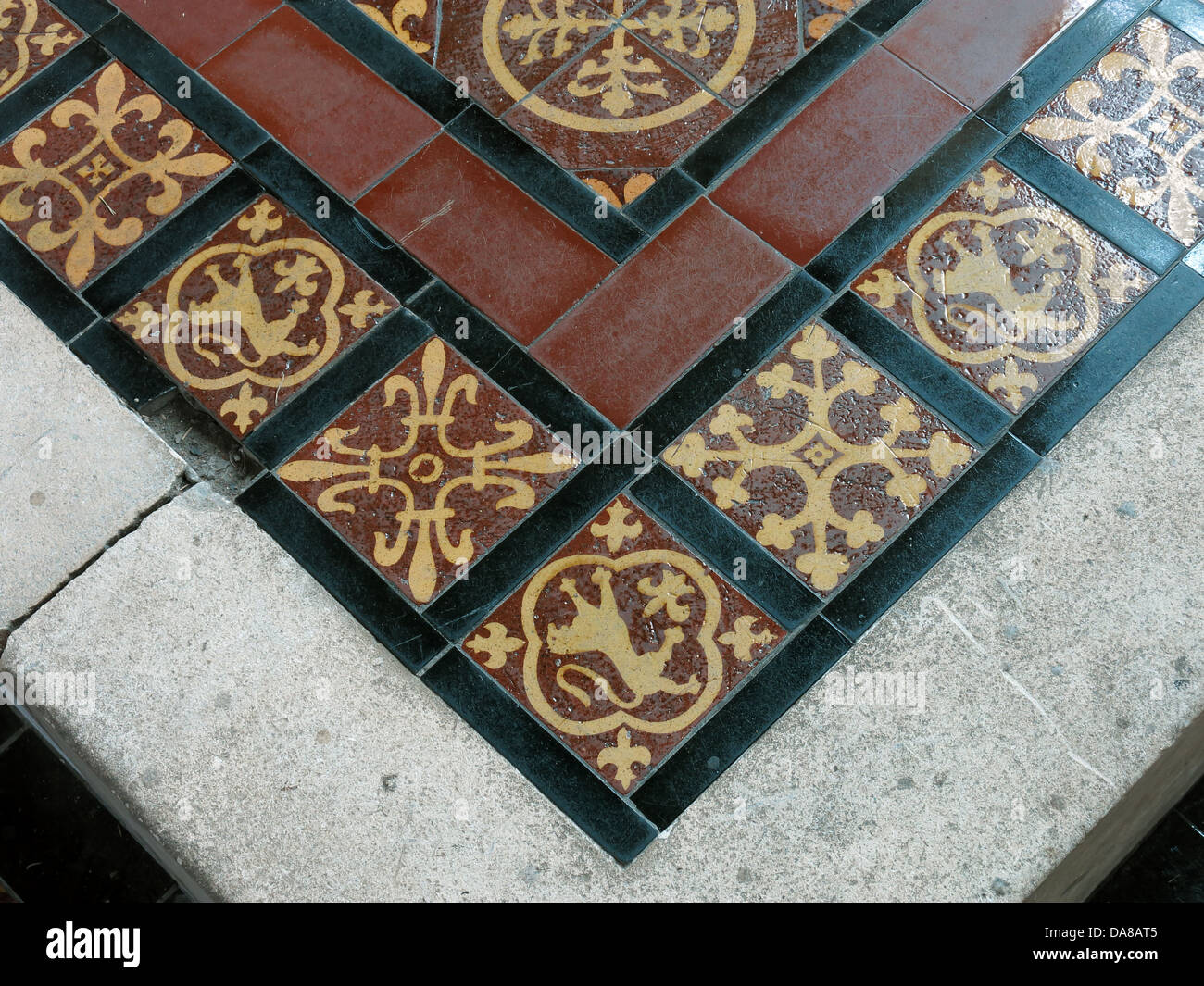 Beautiful,Dorchester,On,Thames,building,interior,of,St,Peter,&,St,Paul,HDR,oxen,oxford,oxfordshire,ancient,monument,Medieval,tiles,on,floor,brown,floortiles,black,near,entrance,detail,designs,Gotonysmith monuments NT,Buy Pictures of,Buy Images Of