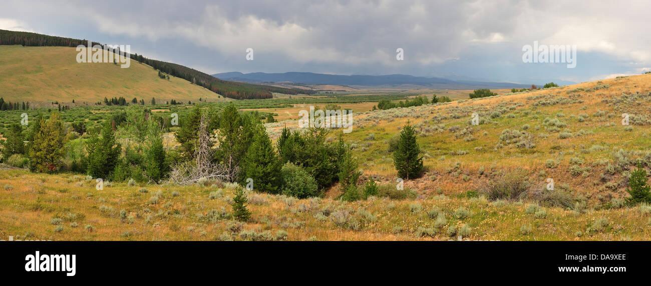 Big Hole, National Battlefield, Nez Perce Trail, Montana, USA, America, United States, USA, panorama, landscape, - Stock Image