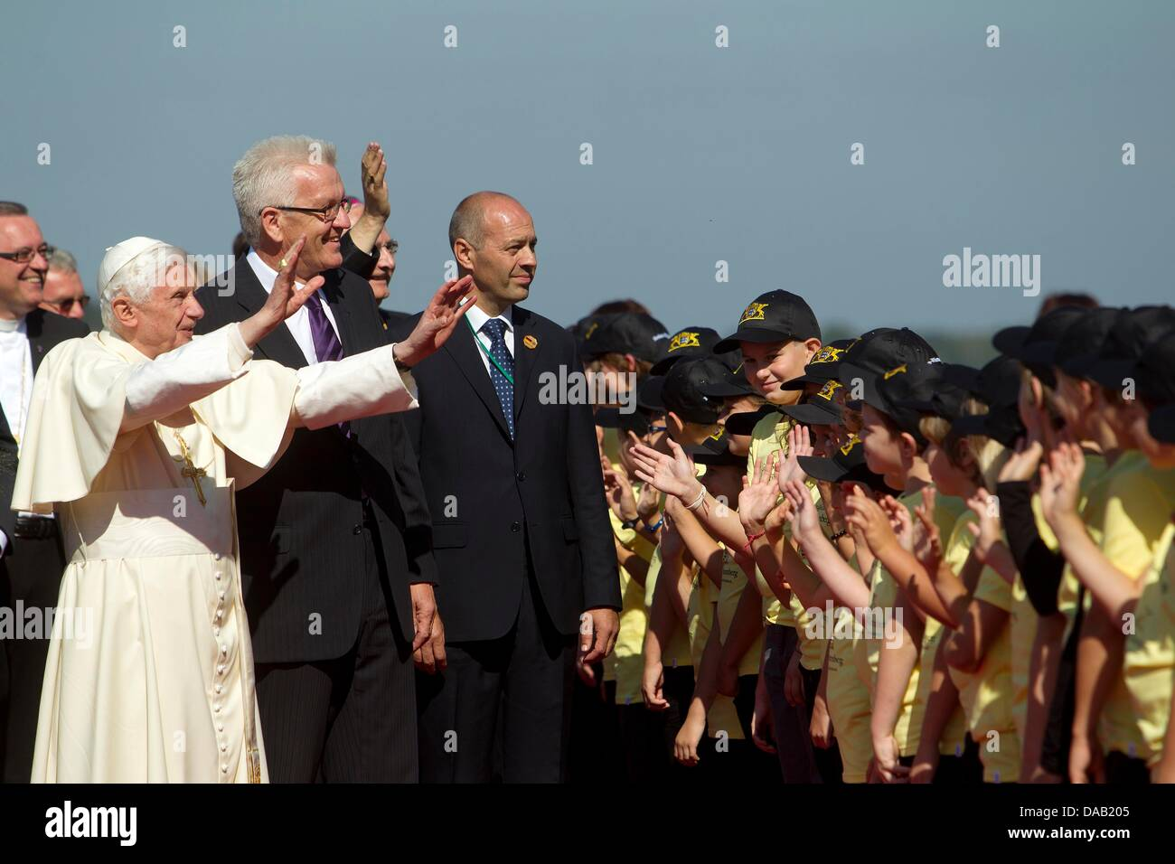 Pope Benedict Xvi L And The Prime Minister Of The German Federal