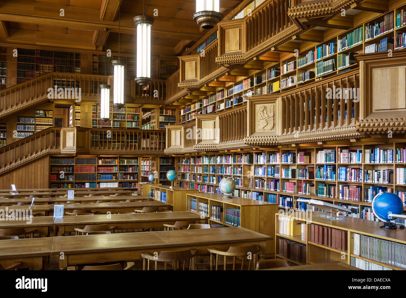 interior showing large bookshelves with collections of books at the university library of leuven louvain belgium - Large Bookshelves